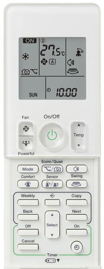 lg reverse cycle air conditioner remote instructions