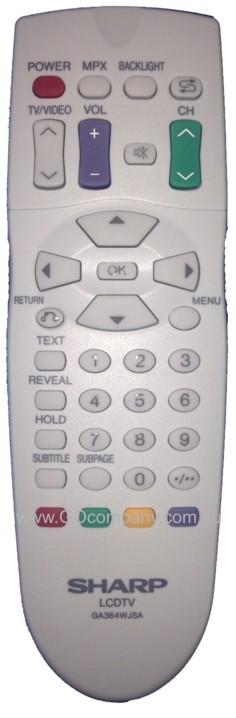 GA364WJSA Genuine Original SHARP TV Remote Control RRMCGA364WJSA